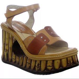 5fe8419ce4e0b Vintage platform el Dante s sandals wedge festival
